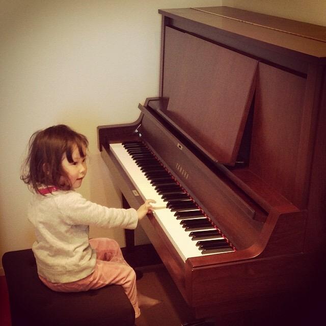 ヤマハのアップライトピアノ